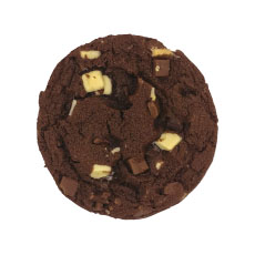 Cookie cuit triple chocolat 76 g x 30 pc